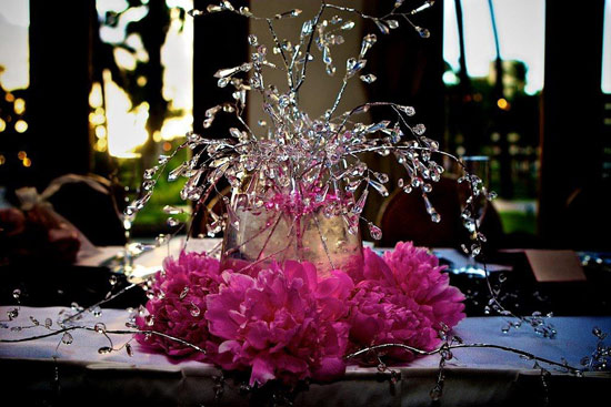 Wedding Flower Centerpieces With Bling - Flowers Healthy