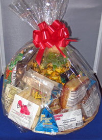 Maui Fruit Basket with pineapple, treats and bread
