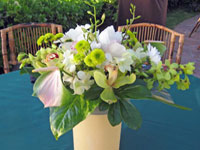 Orchid bouquet for event on Maui